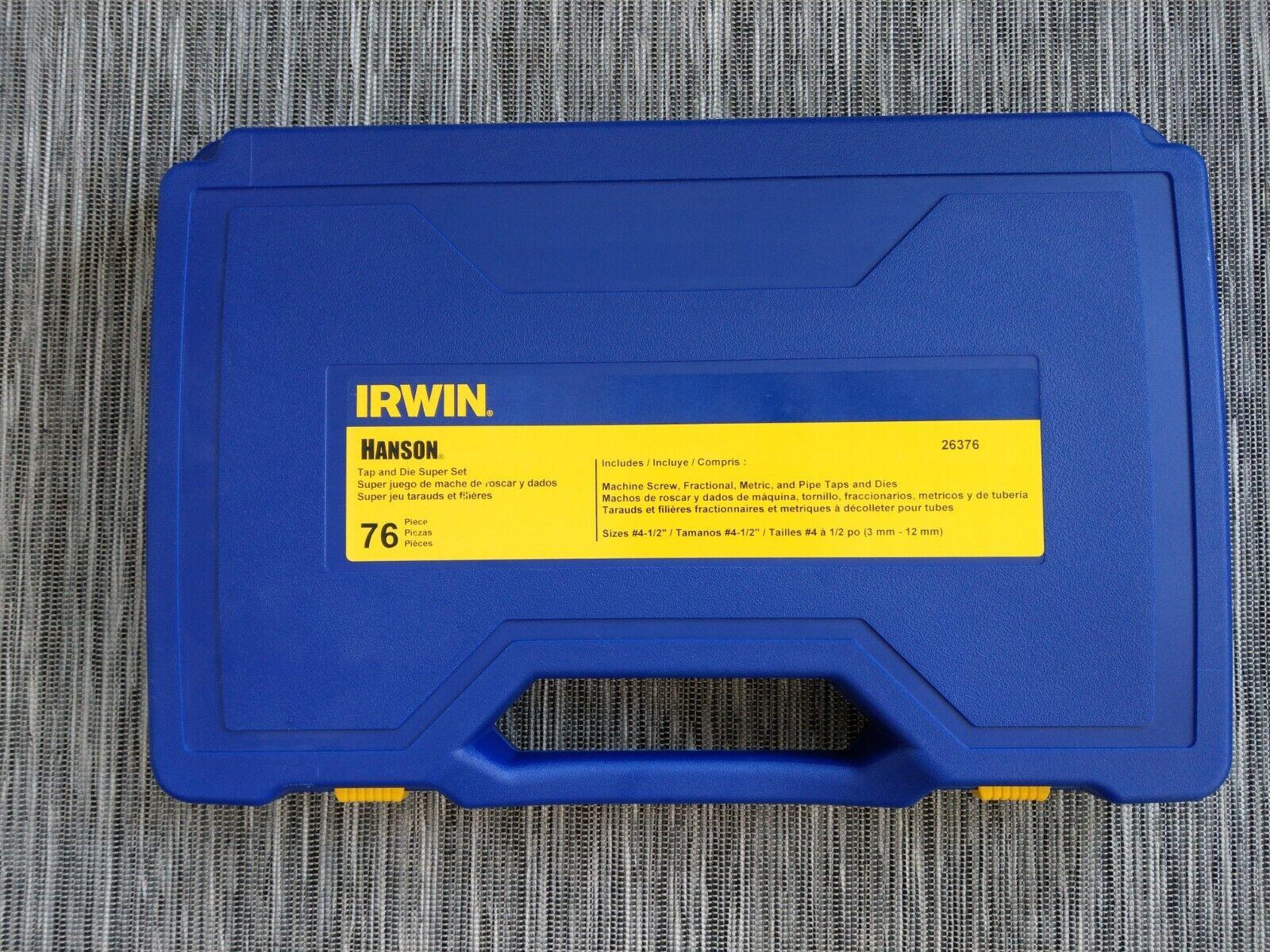 IRWIN HANSON Tap & Die Set, Steel, 76 Pieces