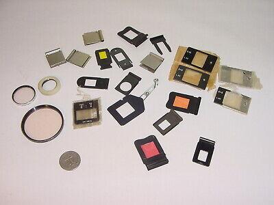 Vintage Bolex Paillard Various Filter Gelatin Frames Holders View Plates Lot 23