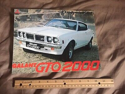 1976 Mitsubishi Galant Colt GTO 2000 UK Market Color Brochure Catalog Prospekt