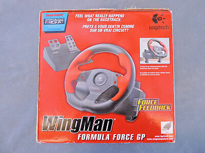 Used, Logitech WingMan Formula Force GP Racing Wheel + Gas & Brake Pedals + Game - NEW for sale  Shipping to South Africa