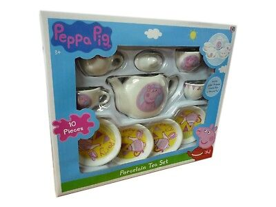 (Peppa Porcelain Tea Set With 10 pieces Peppa Pig Afternoon Tea Toy Playset  New)