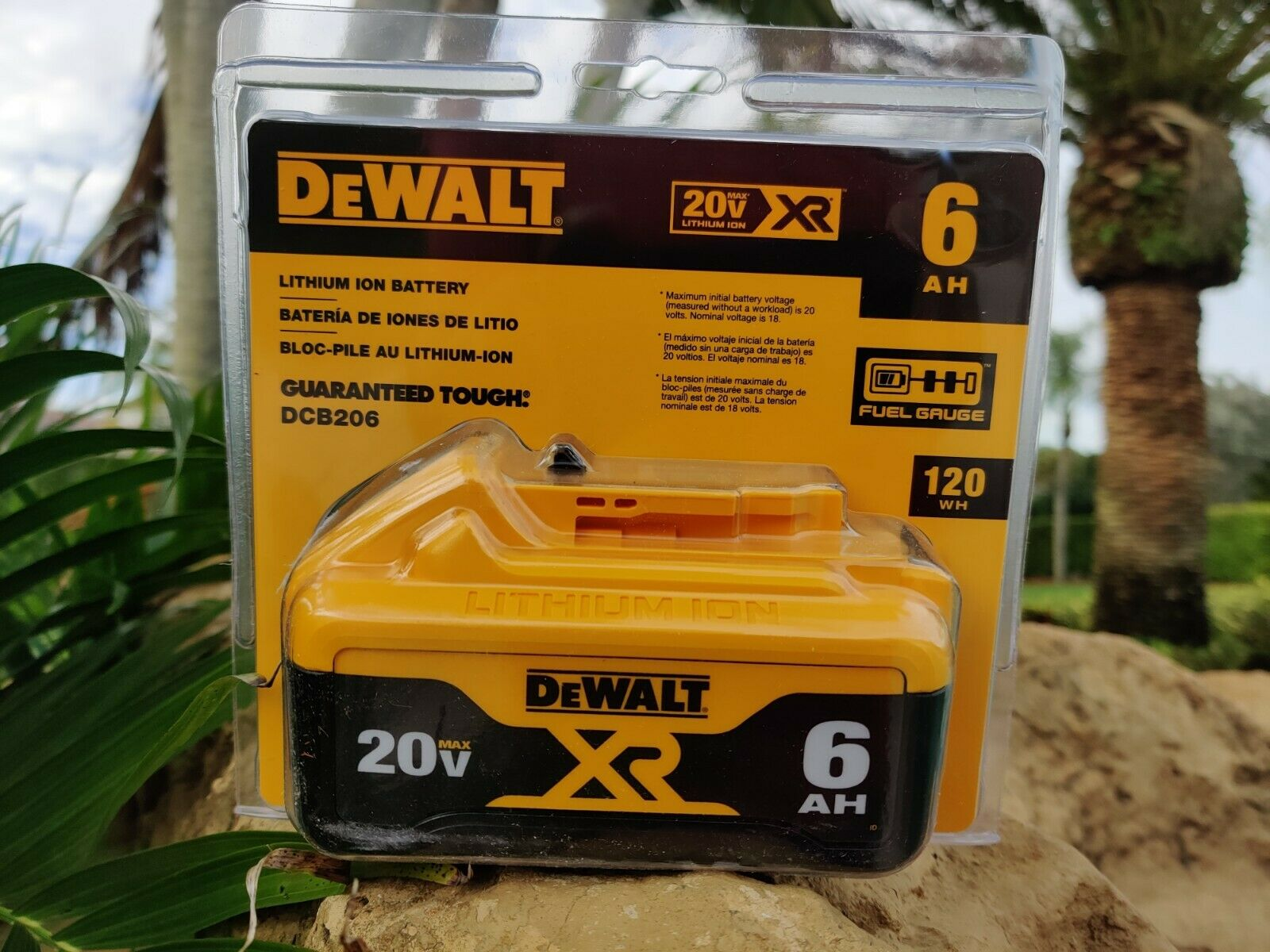 Genuine DeWalt DCB206 20V 20 Volt 6 Amp Lithium Ion Battery XR 20 VOLT Sealed Pk - $46.00