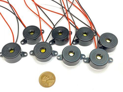 8 Pieces Buzzer alarm active piezo 3v 5v 6v 12v 24v continuous sound dc 85DB C20