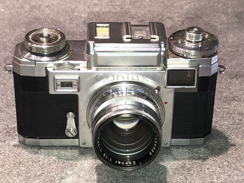 Zeiss Ikon Contax llla With Zeiss-Opton Sonnar T 50mm f 1.5 Excellent