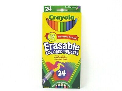 Crayola Erasable Colored Pencils Bright Bold Colors 1 Box of - Crayola Erasable Colored Pencils