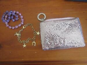 Pink sparkly coin purse and three girls bracelets Bertram Kwinana Area Preview