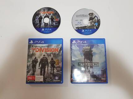 2 x PS4 Games: Star Wars Battlefront & Tom Clancy's The Division