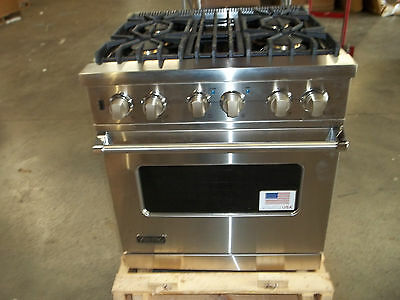 "Viking Professional Custom Series VDSC5304BSS 30"" Pro-Style Dual-Fuel Range  on Rummage"