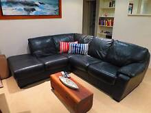Black 100% leather couch - Harvey Norman - Must sell this Friday! Mona Vale Pittwater Area Preview