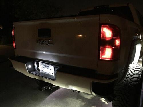 6pc White Reverse Cargo License Plate Light Bulbs For 2016 2017 Silverado Sierra