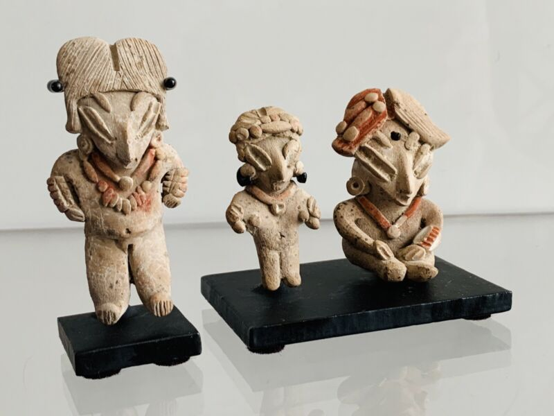 Chupicuaro Pre Columbian Pretty Ladies (3) Ex Abner Weisman  Collection