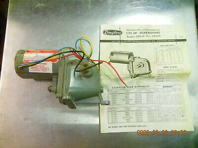 Dayton Ac Gear Motor 3m239. 115 Volt 50 Rpm Gearmotor
