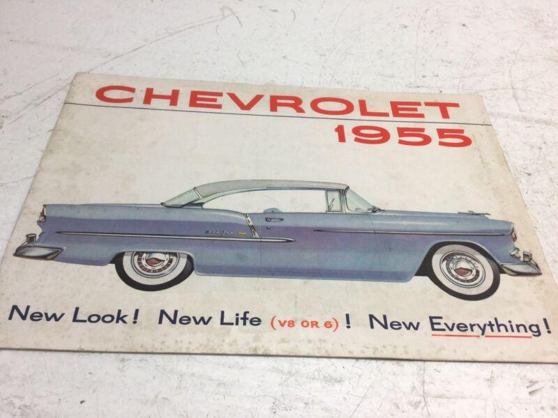 Old Original 1955 Chevrolet Sales Brochure
