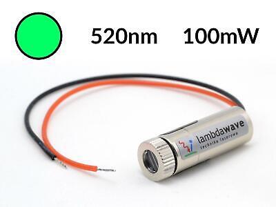 Lambdawave Green Laser Module 100mw 520nm Dot Line Cross Diode Ttl