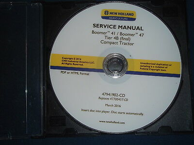 New Holland Boomer 41 47 Tier 4b Compact Tractor Service Repair Workshop Manual