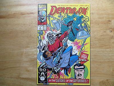 1991 MARVEL COMICS DEATHLOK  # 2 X-MEN FORGE SIGNED CREATOR, RICH BUCKLER