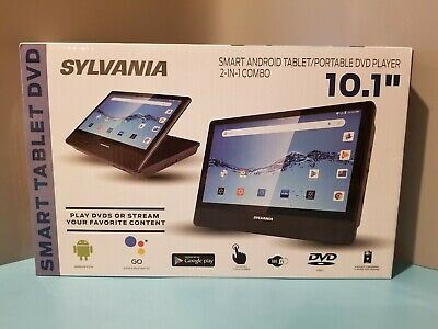 "NEW SYLVANIA SLTDVD1023 10.1"" SMART TABLET DVD PLAYER ANDROID TABLET 2-IN-1"