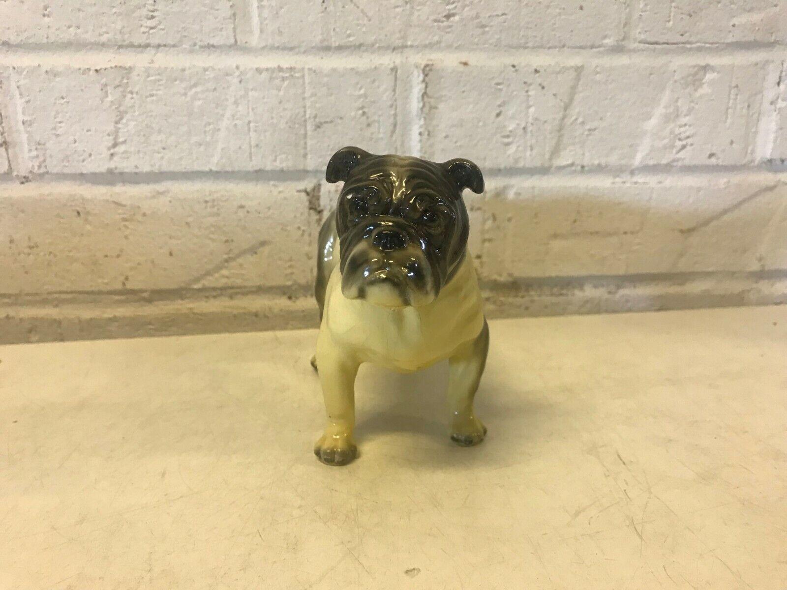 Vtg bulldog anglais figurine debout morten's studio royal design de 2 2
