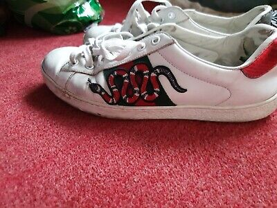 Gucci Ace Sneaker Snakes Size 7.5 VERY USED