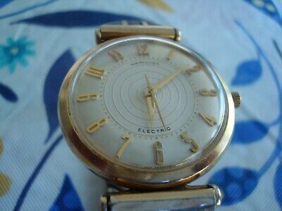 Hamilton Electric mens Watch. Caliber 500, 10K gold filled Case Running