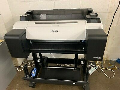 Canon Imageprograf Tm-200 24 Widelarge Format 5 Color Printer With Stand