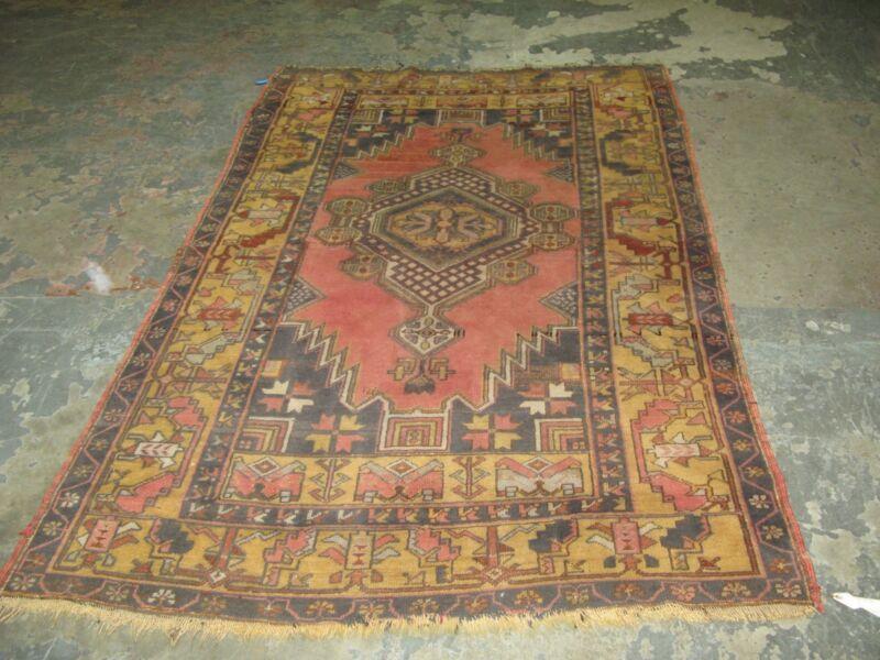 Vintage Turkish Anatolian Oushak Ushak Rug Hand Knotted Wool 4