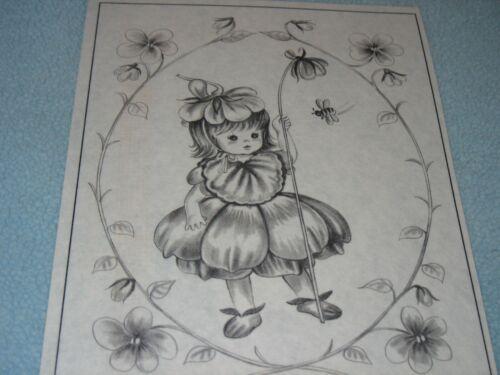 * TRI CHEM 8255 C VIOLET HAT BABY DOLL FLOWER GRIL BEE Picture TRICHEM