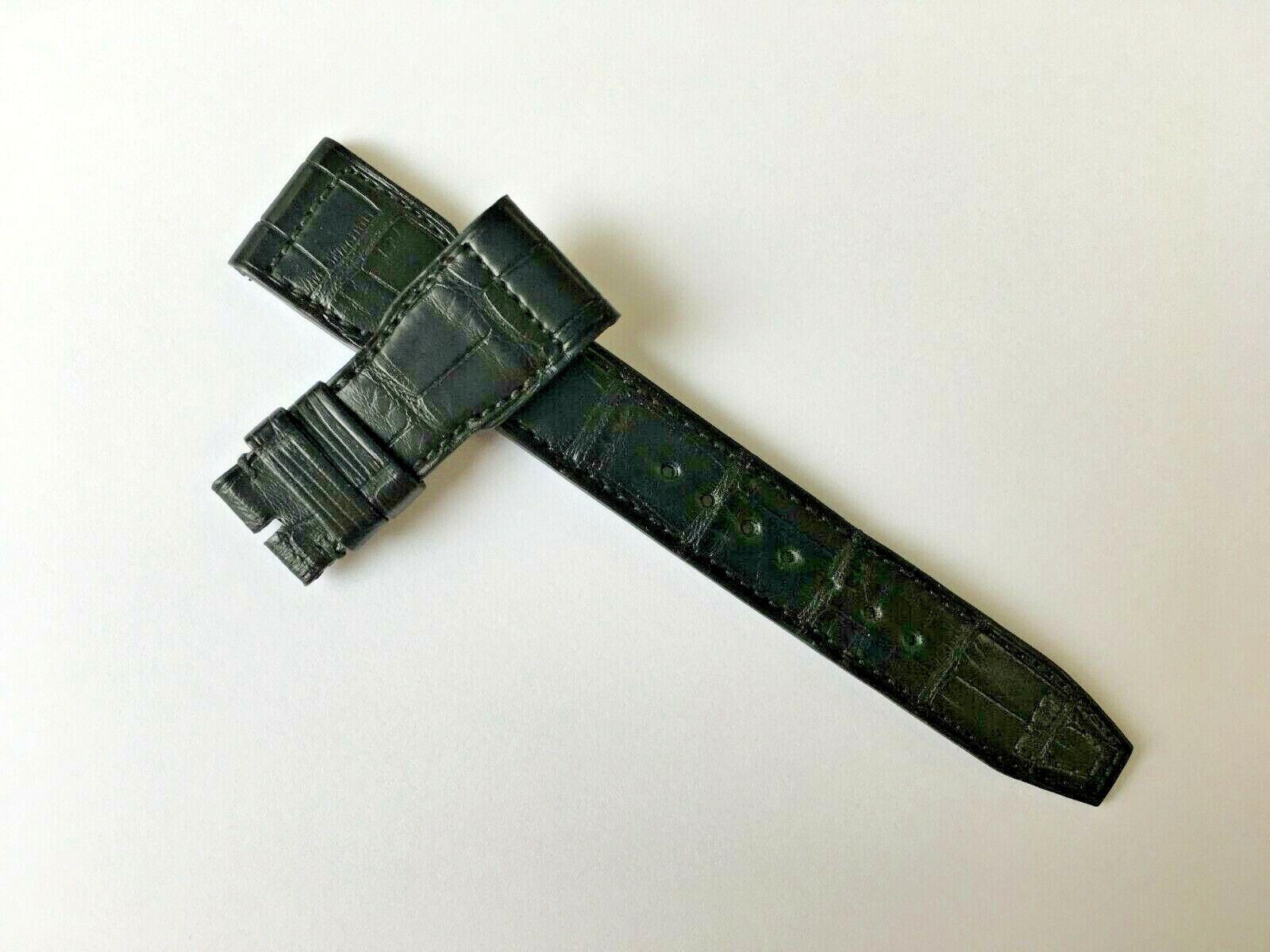 Original IWC 33667 Pilot Alligator Uhrenarmband Schwarz 22 mm x 18 mm