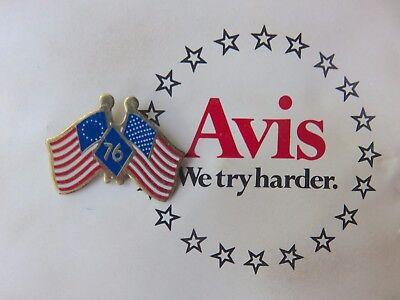 Rare  Avis Car Rental Bicentennial Pin In Original Packaging