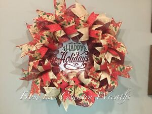 Christmas Wreaths - various styles - all light up!