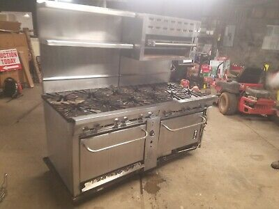 Montague Vectaire 12 Burner Commercial Gas Stove And Oven Range W Bun Toaster