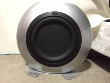kef psw 2150. used kef htb2 250w powered subwoofer silver kef psw 2150