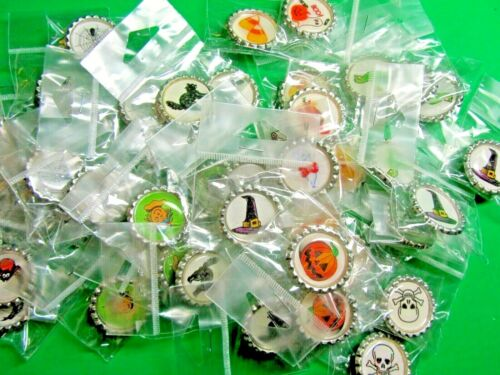 (45) HALLOWEEN PARTY FAVOR LAPEL PIN LOT SPIDER-GHOST-BLACK CAT etc ***see note