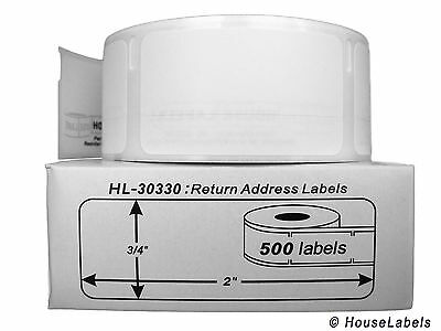 Dymo 30330 Direct Thermal Return Address Labels 34 X 2 - 1 Roll Of 500