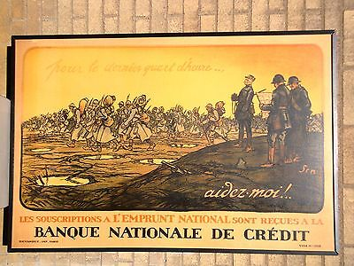 1 of 4 * WWI FRAMED Poster * Gen Foch Reviewing His Troops * 1918 * STRIKING!
