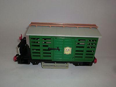 Playmobil 4121 Eisenbahn Viehwaggon A.S. Butcher´s Stall Western Waggon Wagen V2