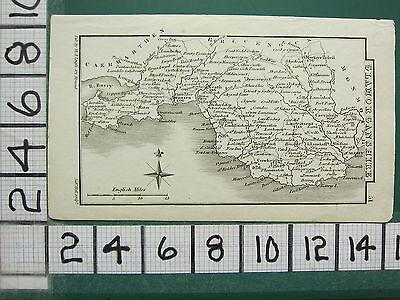c1833 GEORGIAN MAP ~ GLAMORGANSHIRE