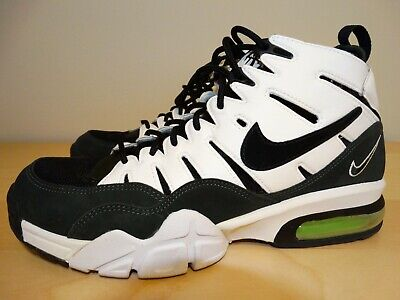 VINTAGE NIKE AIR TRAINER 94 MEN'S SIZE 10 ,WHITE AND DARK GREEN