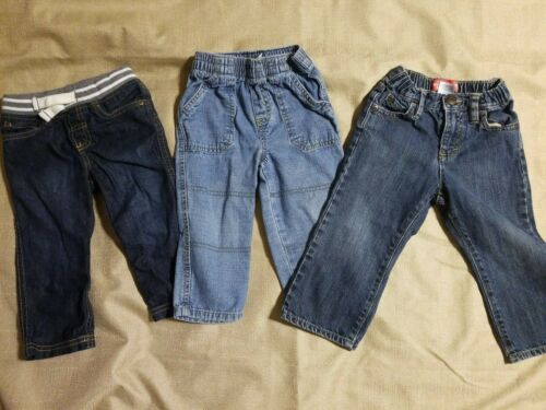 Lot Of (3) Pair Of 18 Month & 18-24 Months Boy Jeans, VGUC