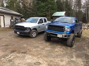 Lifted 2014 Ford F-150 with
