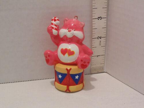 "1983 Care Bears 3"" American Greetings Christmas Tree Ornament Love~a~lot Bear"