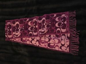 Coach double sided signature knit scarf