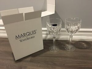 Brand new in box MARQUIS by Waterford set of 2 crystal glasses