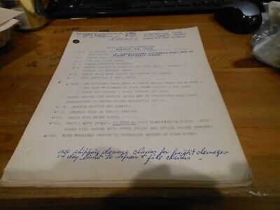 Honda Dealer Notes XL-250 Set-Up And Adjustments Pre-Delivery March 23 1972 Delivery Note Set