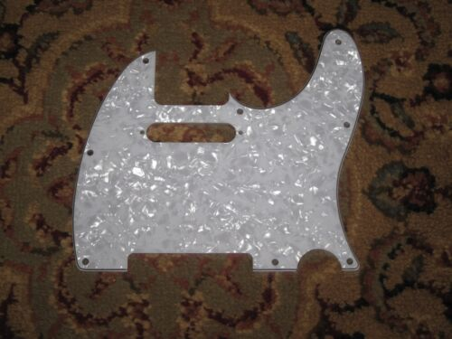 White Pearloid 3-ply 8-hole Pickguard NEW For Fender Telecaster /Squier / Tele