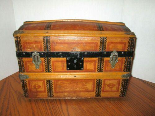Antique Wooden Dome Doll Trunk *Unique