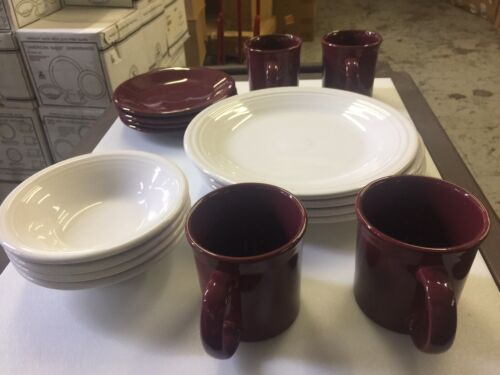 "16 PC FIESTA WARE Set  DINNERWARE "" AMERICAN MADE"" HOMER LA"