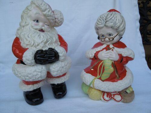 "VINTAGE CERAMIC SANTA MRS. CLAUS 1977 CHRISTMAS LARGE 14"" TALL MINT CONDITION"