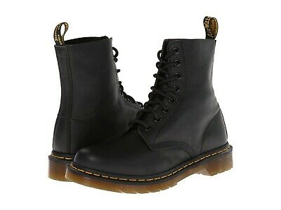 Women's Shoes Dr. Martens PASCAL 8 Eye Leather Boots 13512006 BLACK VIRGINIA Pascal 8 Eye Boot