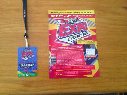 EB games Expo Sydney 2015 (3 Day Gamer Pass) Kilaben Bay Lake Macquarie Area Preview